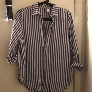 H&M: Blue/White Stripe Long Sleeve
